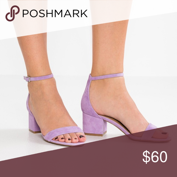 "a443c167e27 Steve Madden Suede Sandals Irenee Heels Mauve 10 2"" heels in purple suede.  Color is closer to photos I added. Mauve is the perfect description."