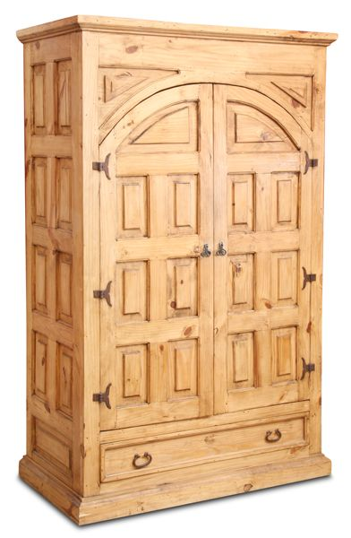 Charmant Beautifully Rustic Cathedral Armoire By Santa Fe Rusticos. Natural Pine  Wood, Decorative Design And Ample Storage Will Bring Style To Your Room.