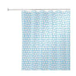 Interdesign Honeycomb Shower Curtain Aqua 72x72 Dream Home