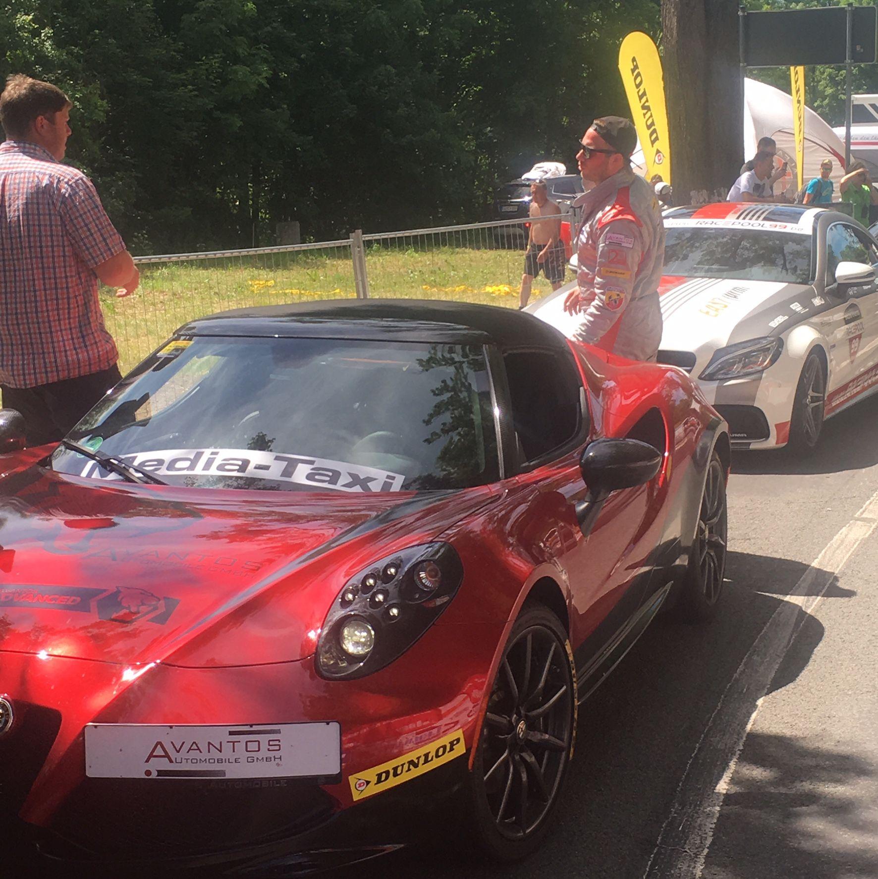 Unser Alfa Romeo 4c beim Bergrennen in Bad Liebenstein 2017