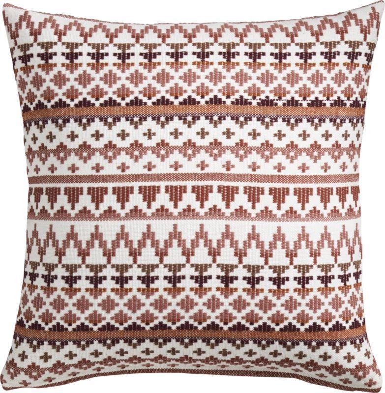 20 Quot Quot Aspen Mauve Pillow With Down Alternative Insert In
