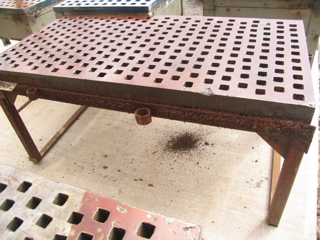 3 X 6 Acorn Type Welding Platen Layout Table With 34