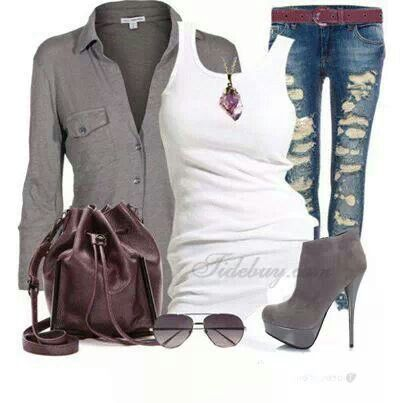 Luv the Burgundy purse with the grey #tidebuy