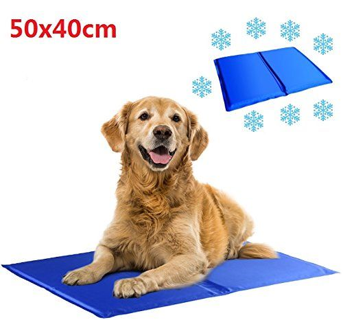 EatingBiting(R) 50x40cm Pet Cooling Mat Soft Pet Chilly