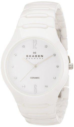 Skagen Women S Sk817ssxc Ceramic White Dial Watch Amazon Watches Drool Birthday Wish Y All White Dial Watch White Watches Women Wooden Watches For Men