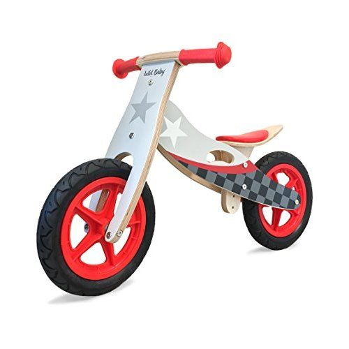 Kinderfeets Chalkboard Wooden Balance Bike Classic Kids Training No Pedal Balance Bike Black Wild Baby Wooden Balance Bike Push Bikes
