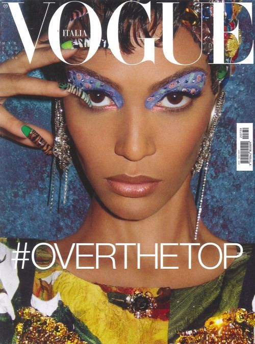 Joan Smalls, photographed by Steven Meisel. VOGUE Italia, March 2012.