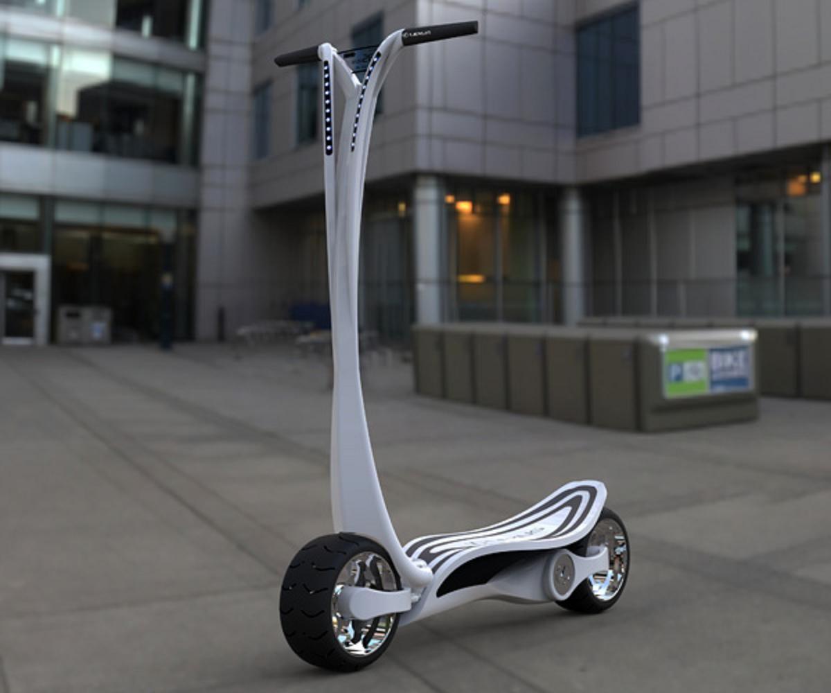 le ct s un concept entre scooter et trottinette lectrique scooters and cars. Black Bedroom Furniture Sets. Home Design Ideas