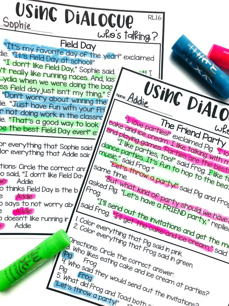 Teaching Dialogue And Point Of View Teaching Dialogue Teaching Writing Dialogue [ 1024 x 768 Pixel ]
