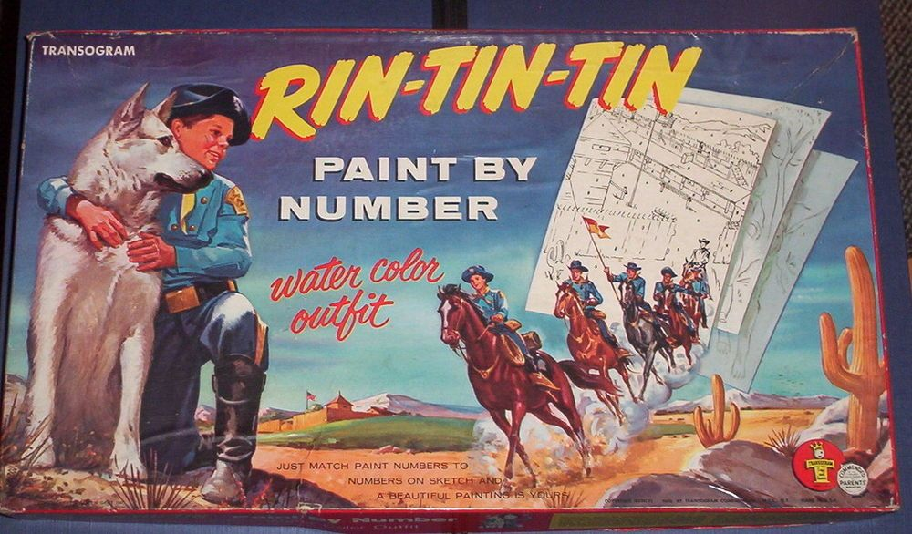 Rin-tin-tin, paint by number, transogram 1956 | Number