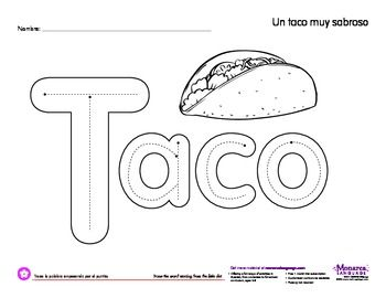 Worksheet Taco (Cinco de mayo) Free coloring, Coloring