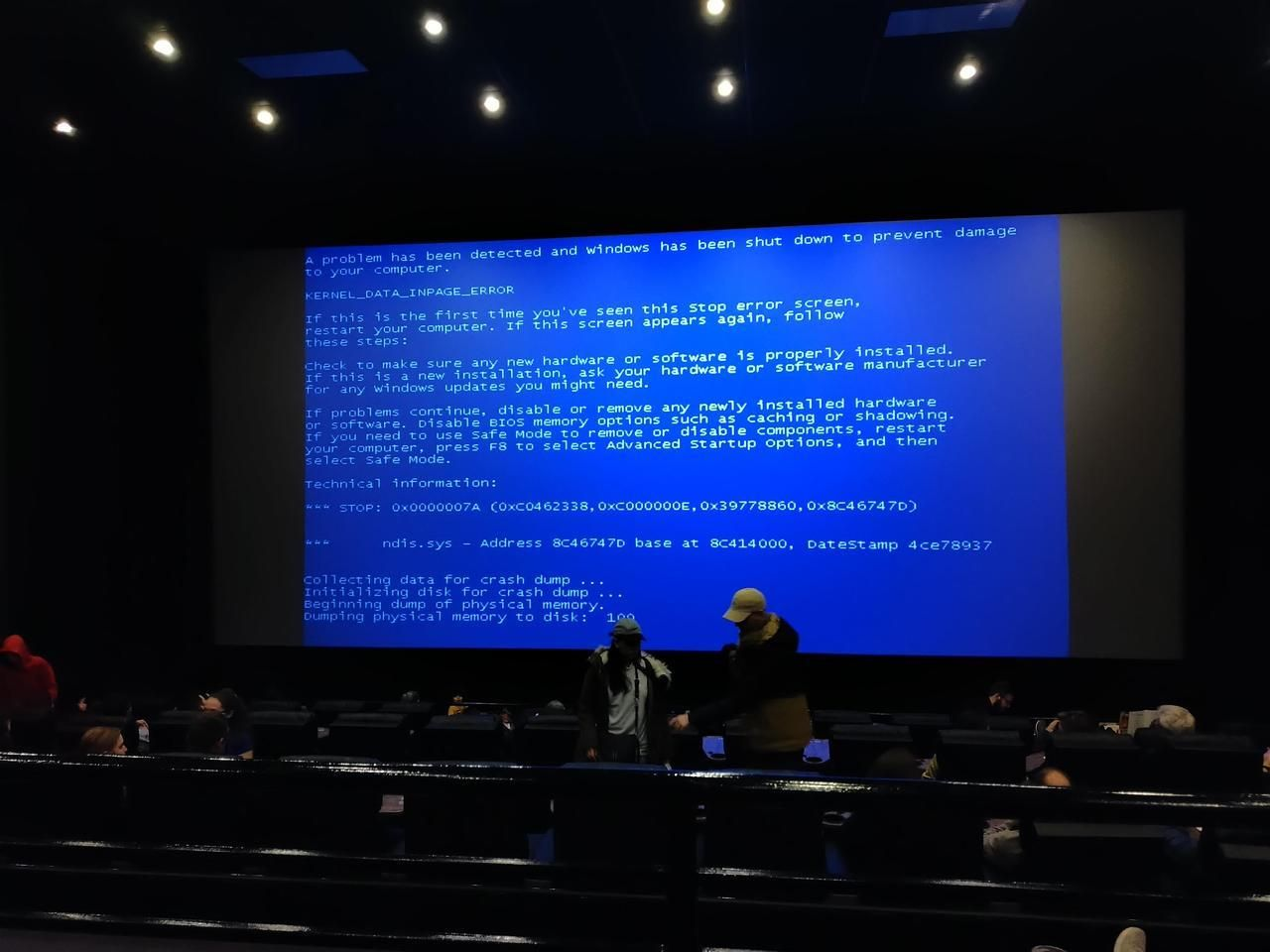 At the movie tavern in collegeville pa bsod pbsod blue