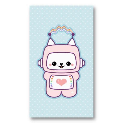 Cute Cat Robot Business Card
