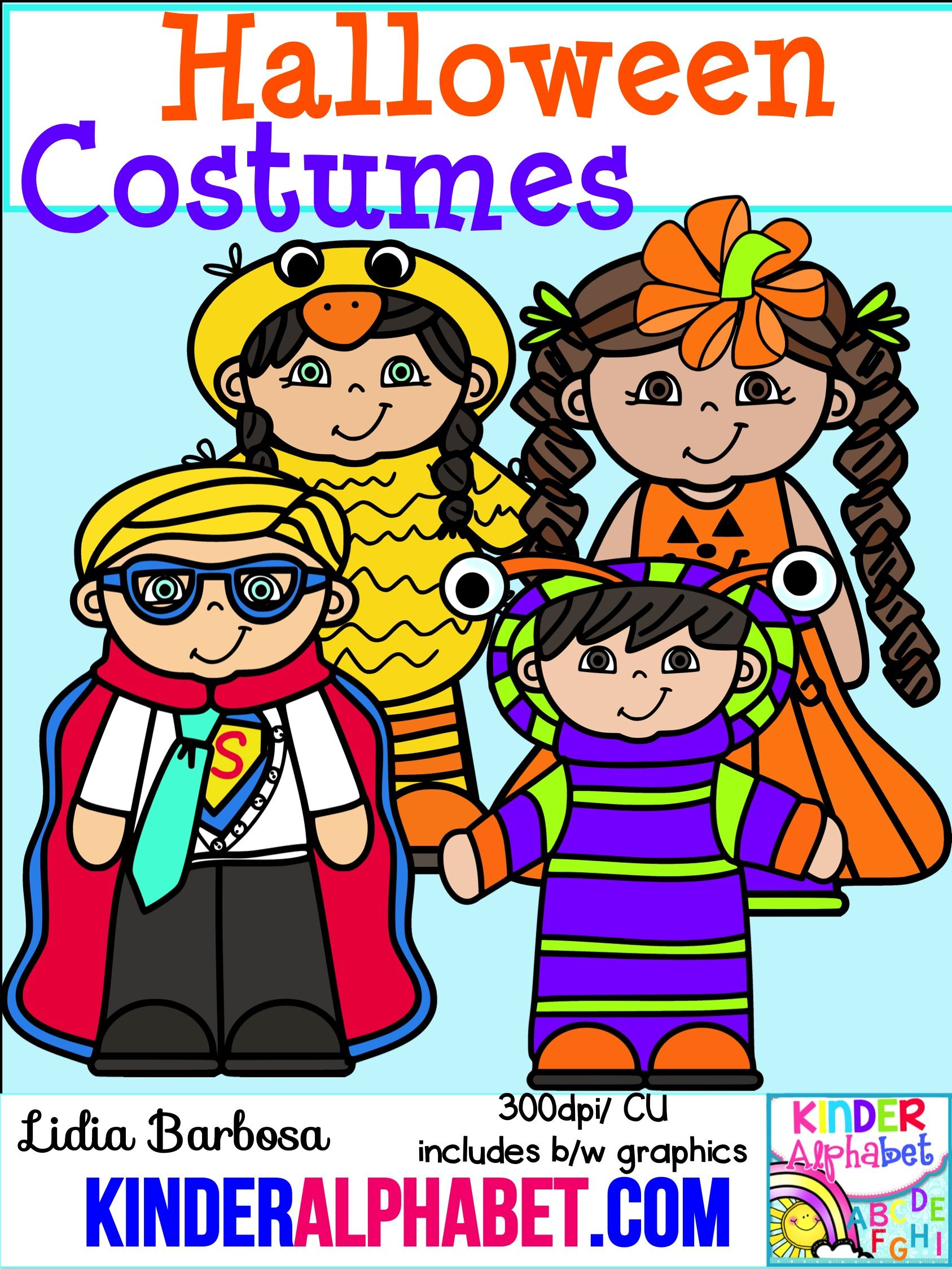 I love this clip art set of Halloween Costumes ...