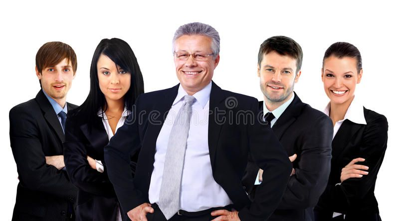 Group Of Business People Isolated Over White Background American
