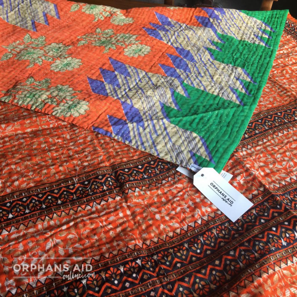 Recycled Sari Throw