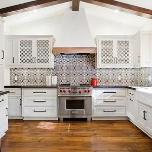 Favorite Dark Floors White Cabinets Tile Back Splash Mediterranean Kitchen Design Spanish Style Kitchen Spanish Kitchen