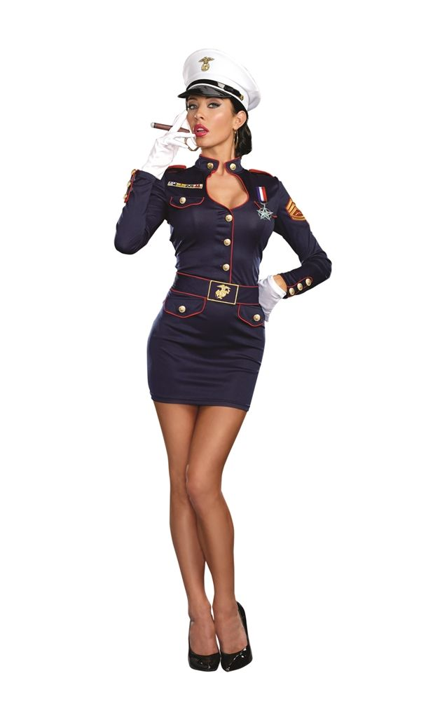 Take Charge Military Marge Adult Womens Costume 345556 Navy