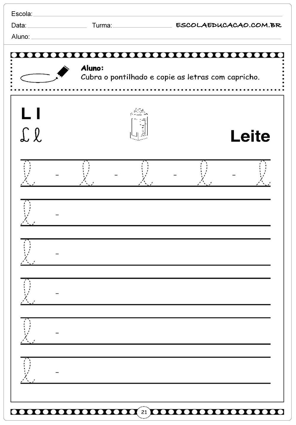 Alfabeto Cursivo Com Imagens Atividades Letra E Alfabeto