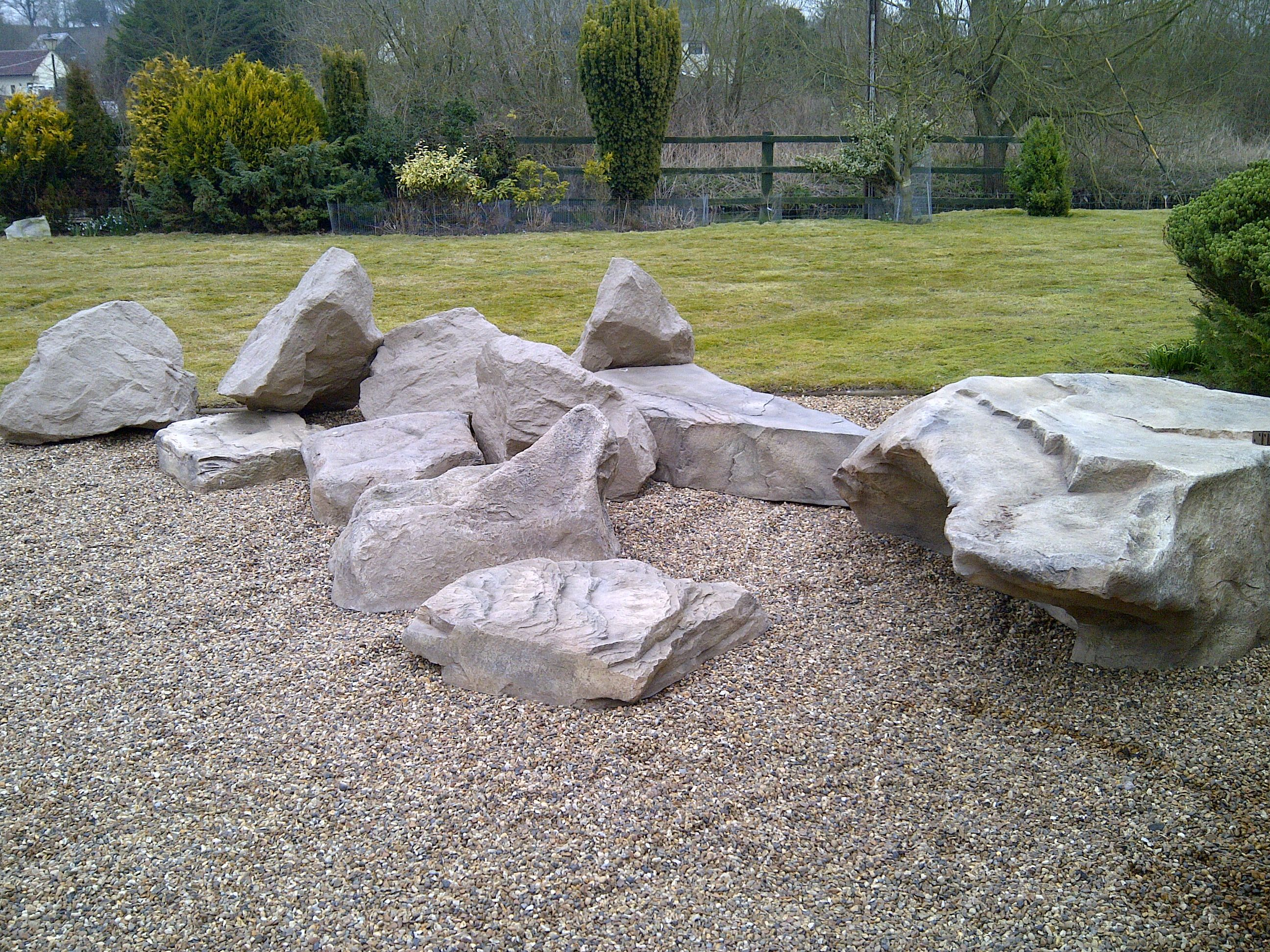 It S All Fake More Lightweight Artificial Rocks Artificialrocks Co Uk Artificial Grass Installation Artificial Grass Artificial Lawn