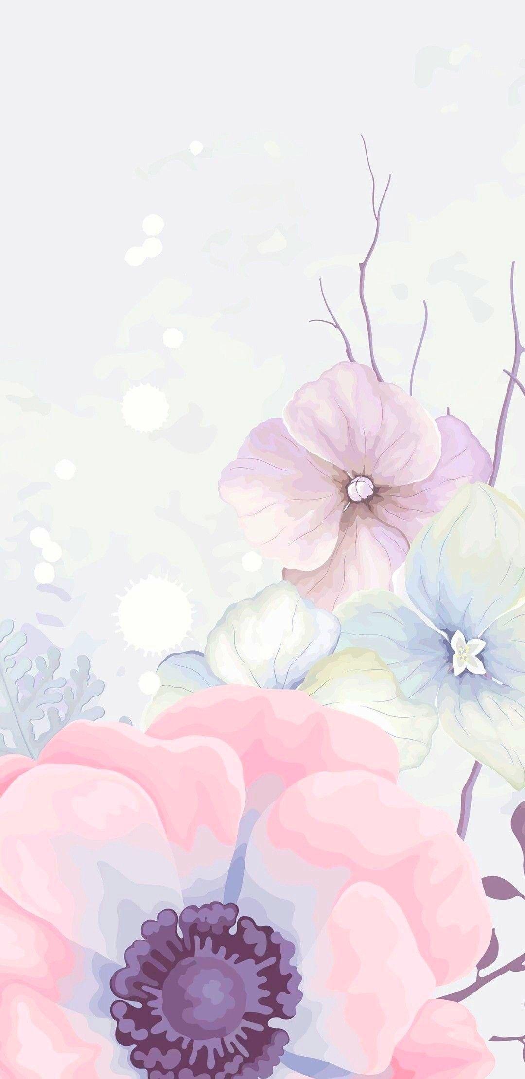 Pink Flowers Wallpaper Background Flowery Wallpaper Pink