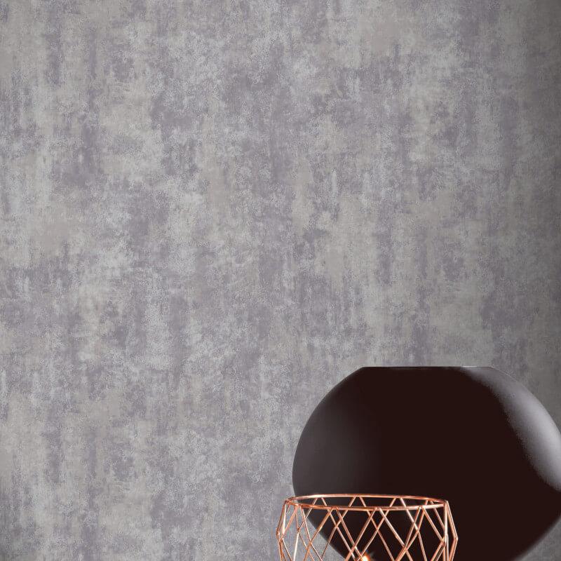 Arthouse Stone Texture Warm Grey Metallic Wallpaper