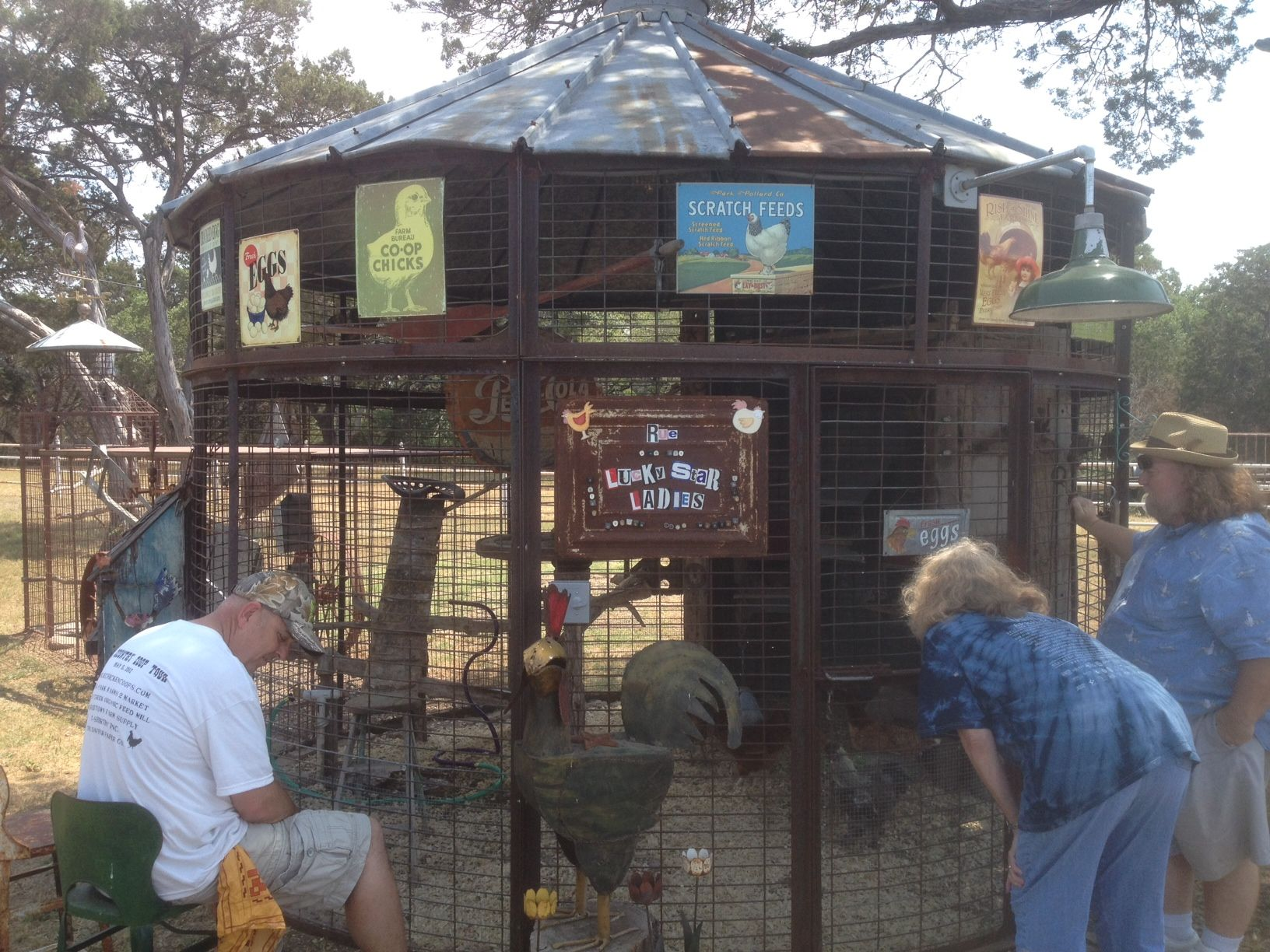 Coop made from an old Corn Crib on the Hill Country Coop ...