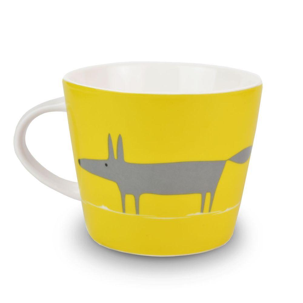 The fabulous Mr Fox mug in yellow makes us smile! | Yellow home ...