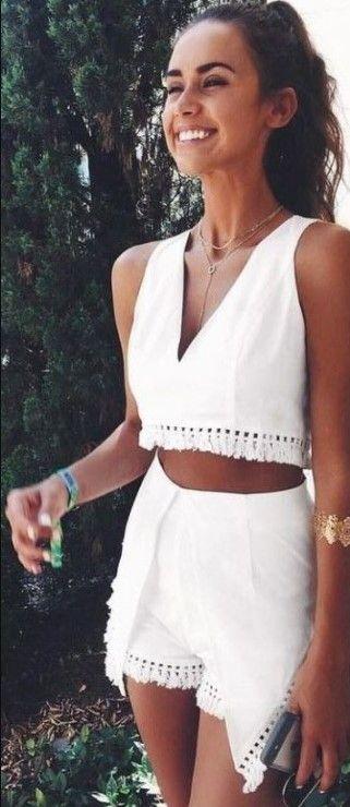 60+ Best Inspiring Cute Summer Outfits For Girl #summerdinneroutfits