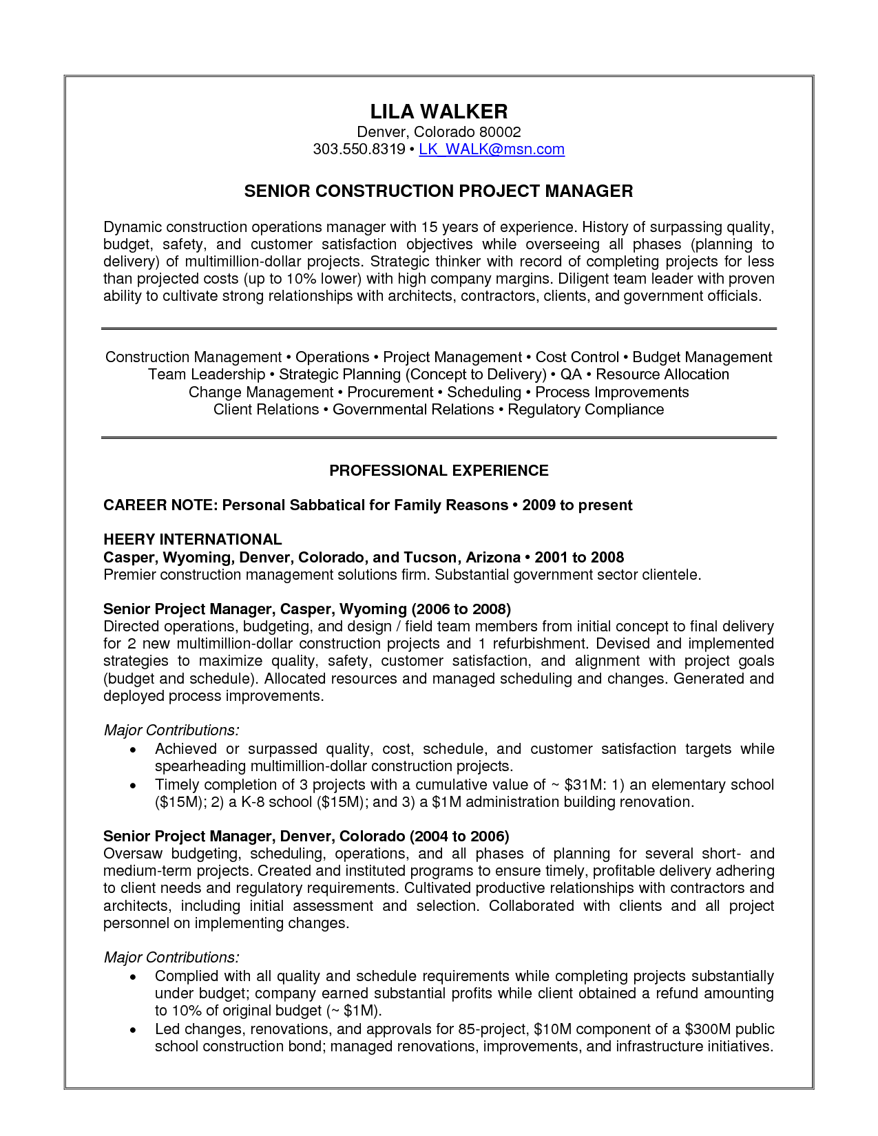 human resources manager resume format template susanta procurement ...