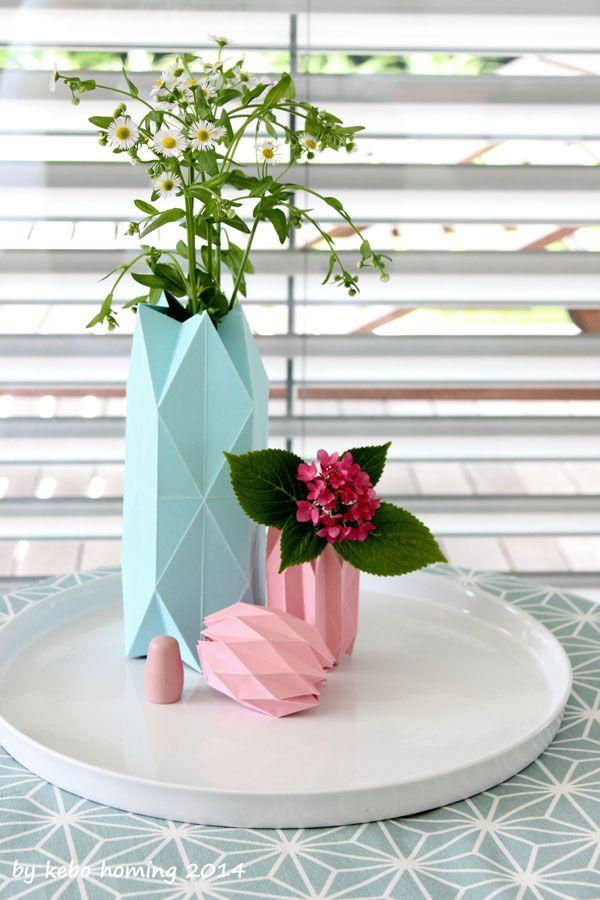 #Blumen #flowers #decoration #paperfolding #Papierfalten #Hortensie