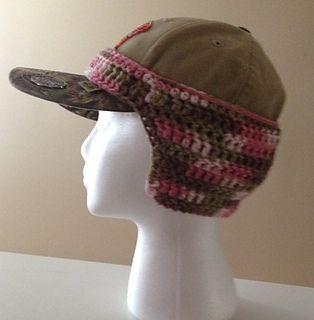 Baseball Cap Hat Ear Warmer pattern by Pamela Bastian  5591f86a87b