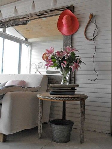 lovely living rooms beadboard | Lovely Cottage or Barn Look Living Room - Beadboard ...