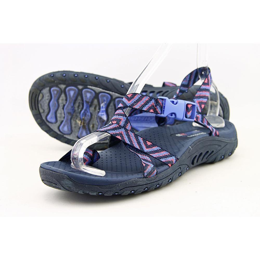 c7d1322e1 Skechers Reggae Haystack Women US 8 Blue Slingback Sandal Pre Owned 1738   Skechers  Slingbacks