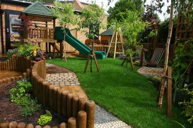 Garden Ideas Play Area love everything about this-curves and texture path. why don't we