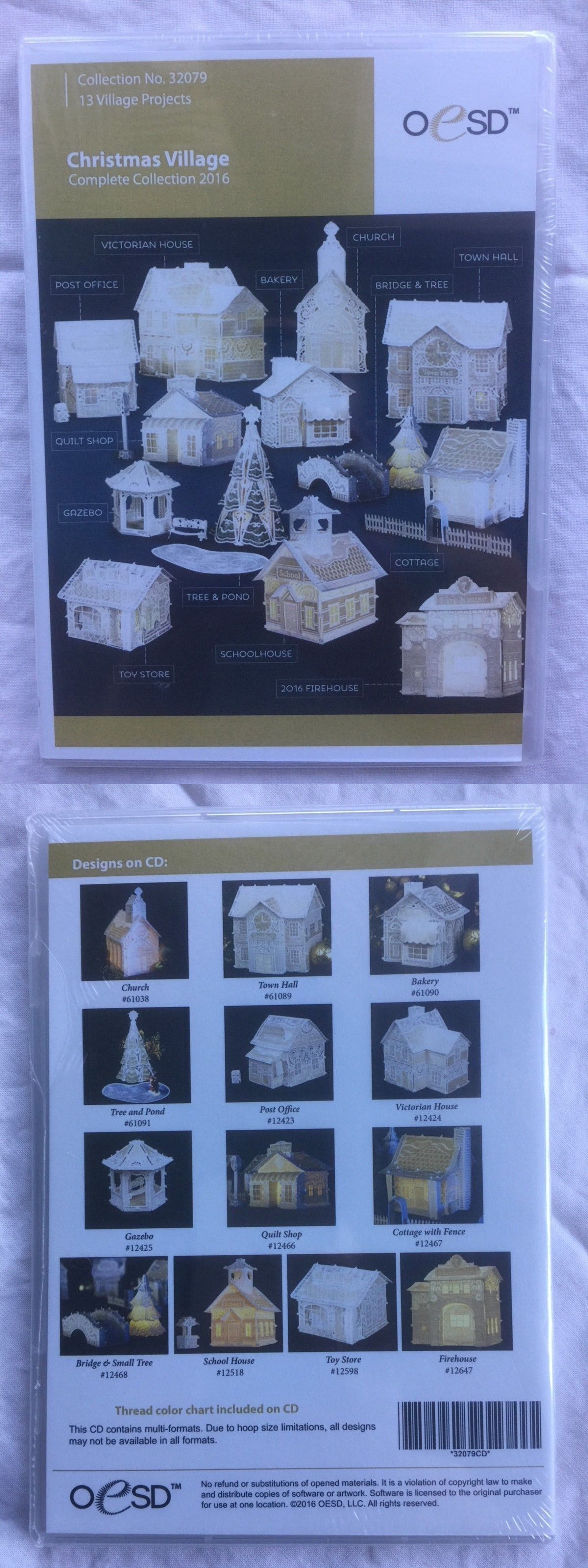Design Cards and CDs 41383: 2016 Oesd Christmas Village Complete ...