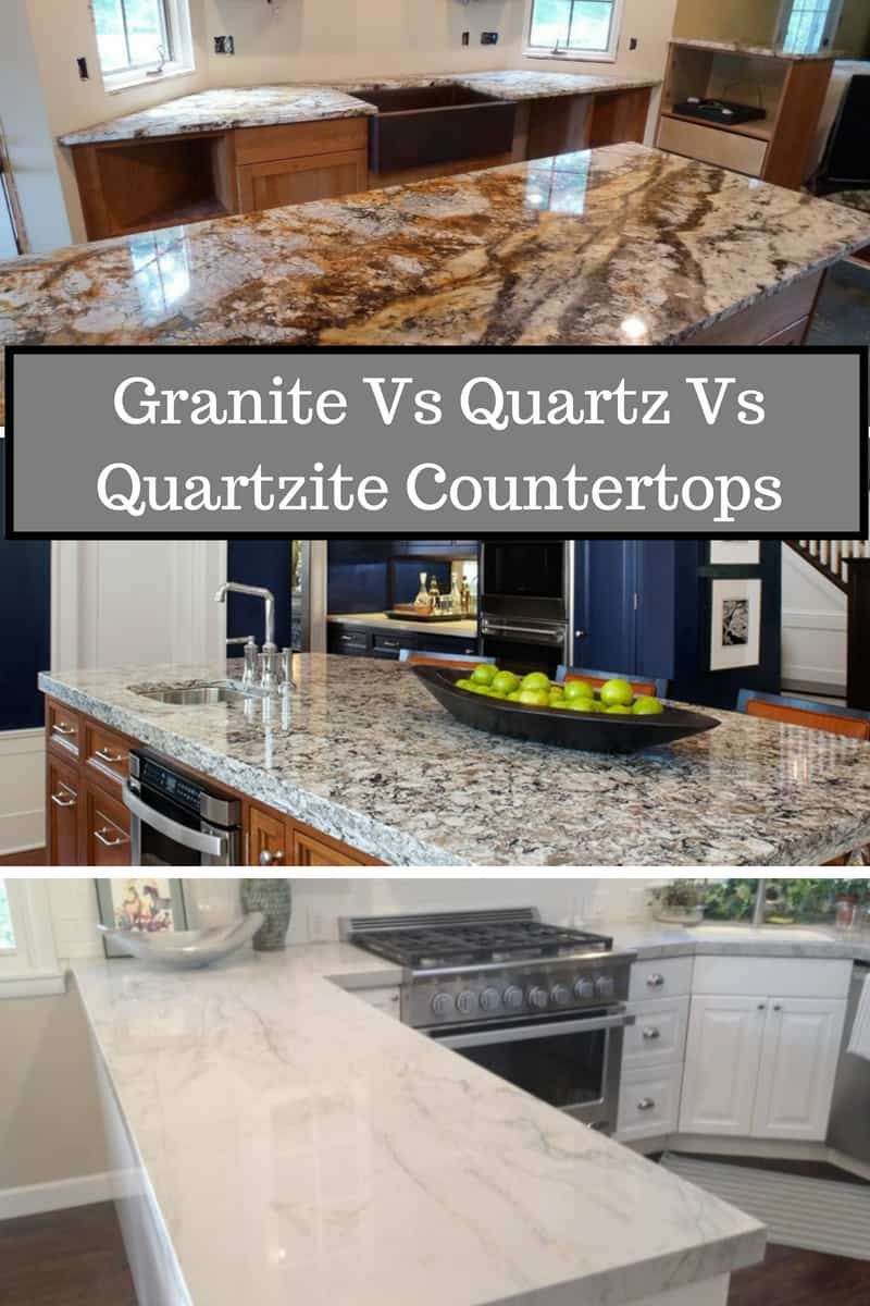 Comparison of granite quartz quartzite as materials in kitchens