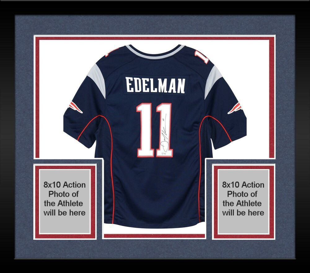 Framed Julian Edelman New England Patriots Autographed Navy Nike Game Jersey Sportsmemorabi New England Patriots Football New England Patriots Jersey Patriots