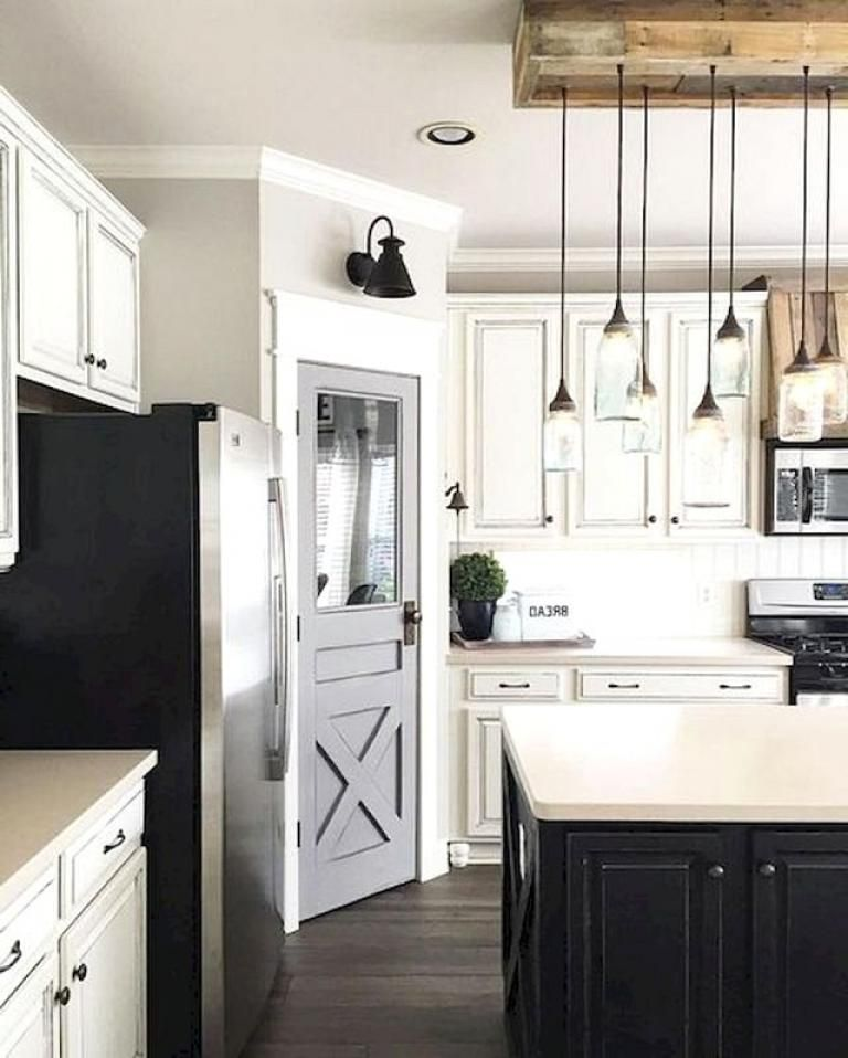 30 beautiful modern white farmhouse kitchen ideas with images farmhouse style kitchen on farmhouse kitchen hickory cabinets id=57608