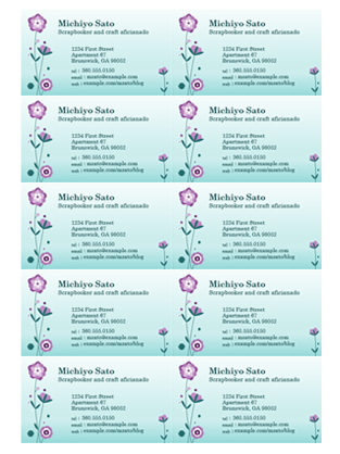 Business Cards Flower Illustration 10 Per Page Business Cards Diy Templates Free Printable Business Cards Free Business Card Templates