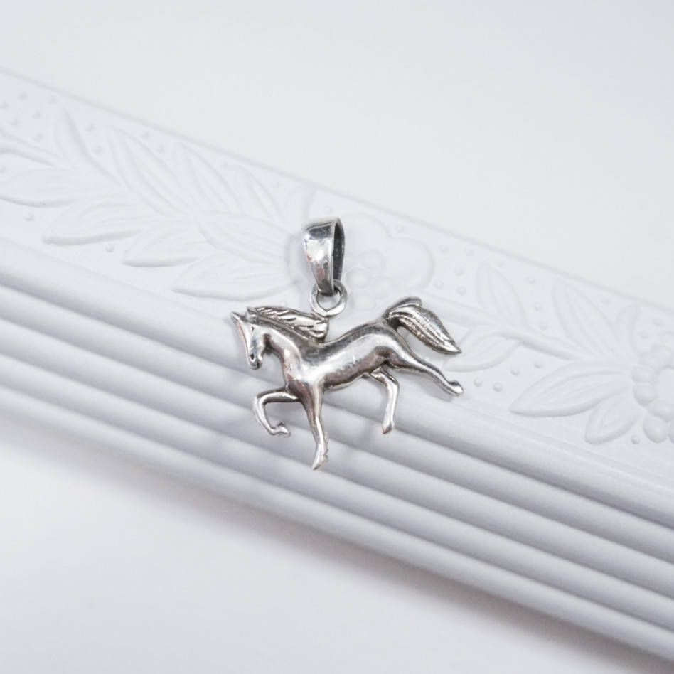 Sterling silver horse charm silver horse charm horse pendant sterling silver horse charm silver horse charm horse pendant trotting horse charm aloadofball Gallery