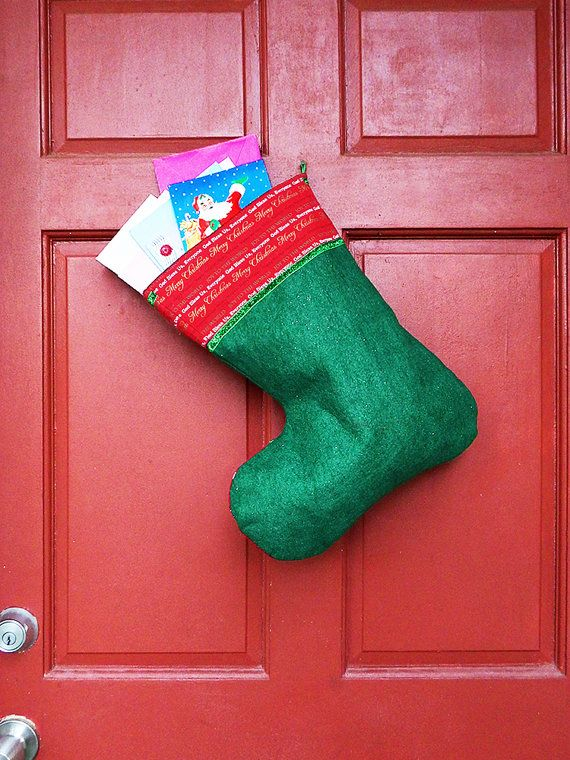 Large Christmas Stocking Joy To The World Indoor Outdoor Decoration