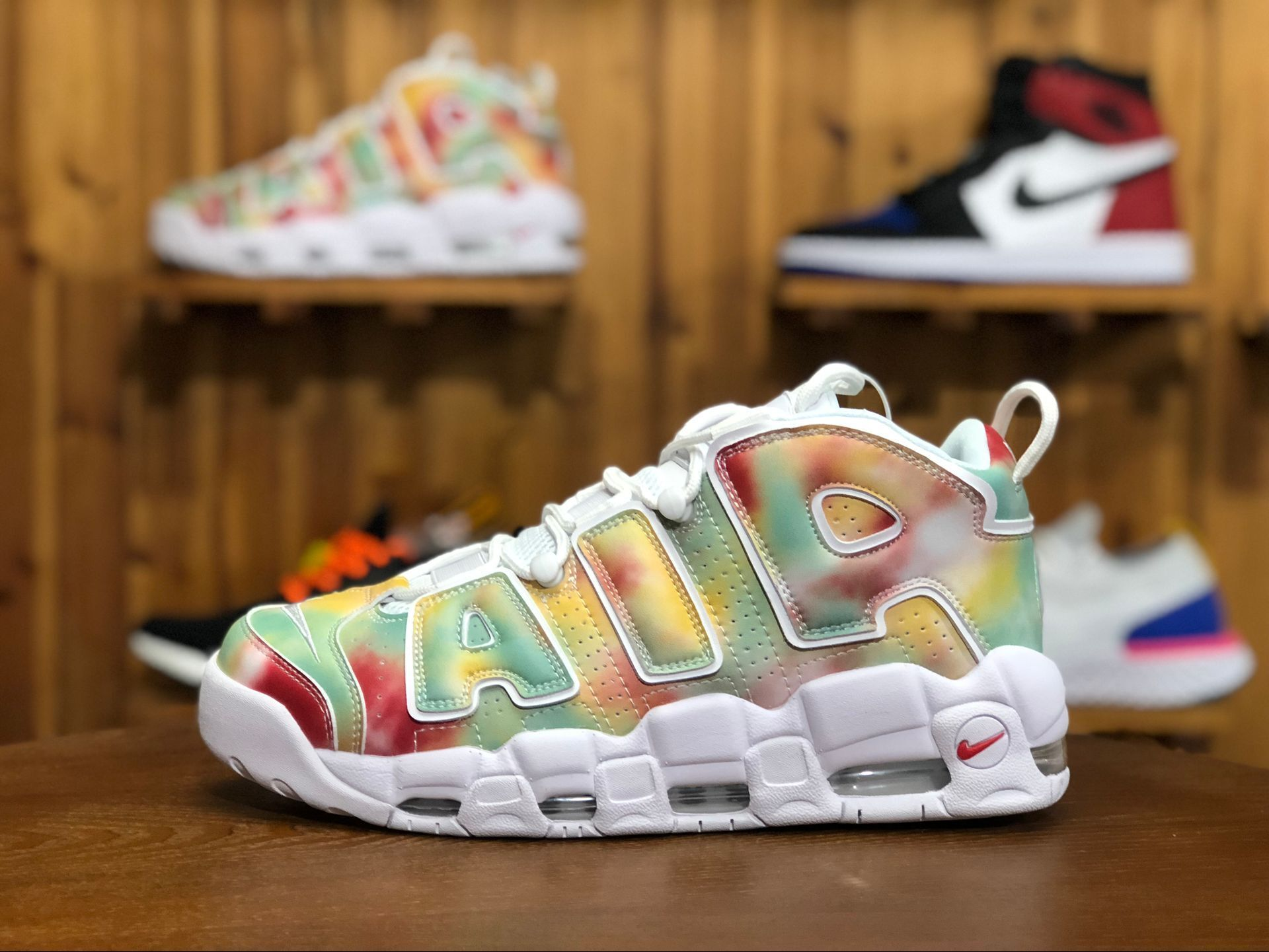 185f00cd8c This Nike Air More Uptempo UK sports a powder-dyed Amarillo