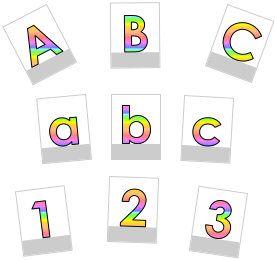 abc-karten regenbogen | druckbuchstaben, lernkarten, schreiben lernen