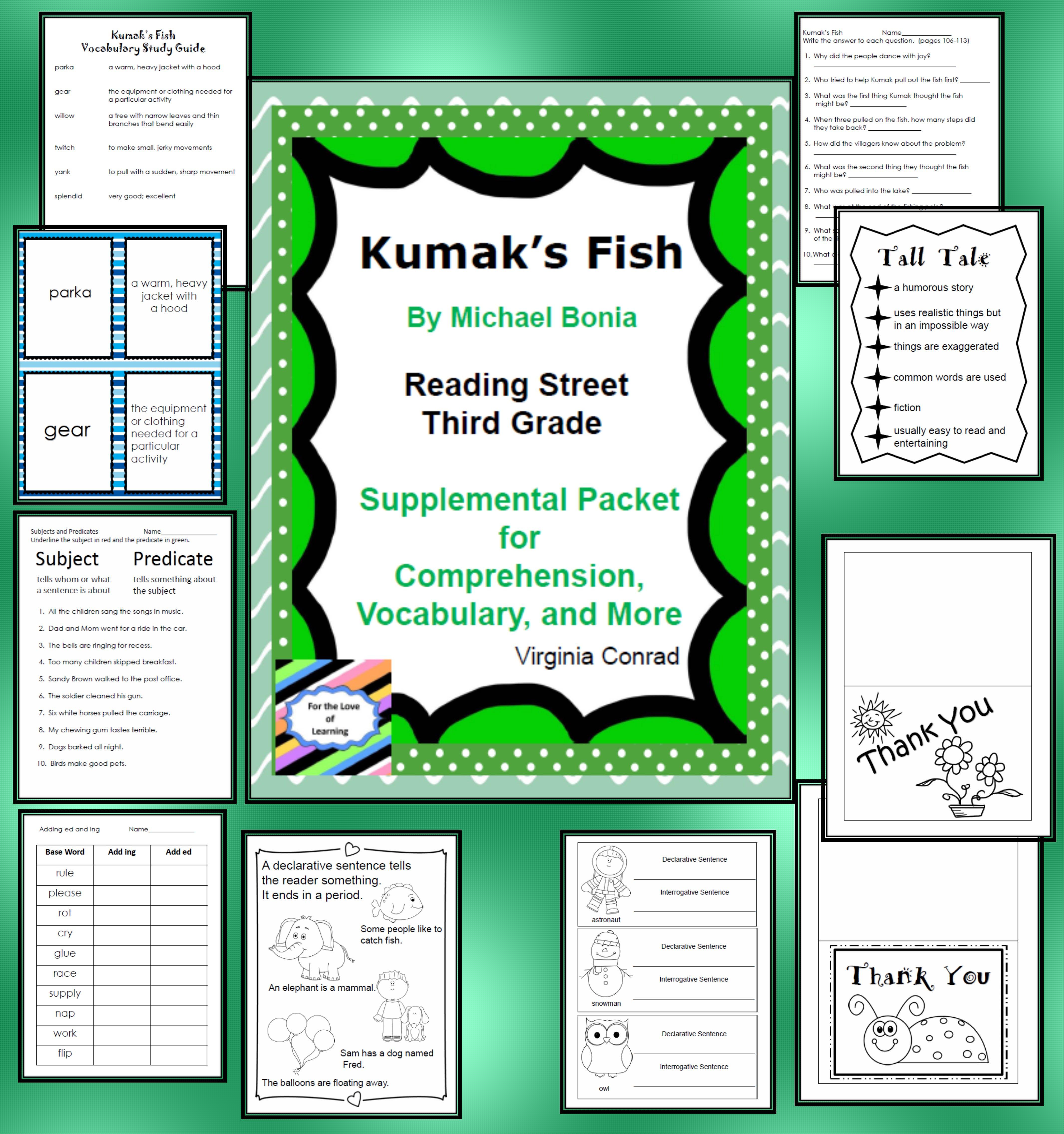 Kumak S Fish Reading Street Supplemental Packet