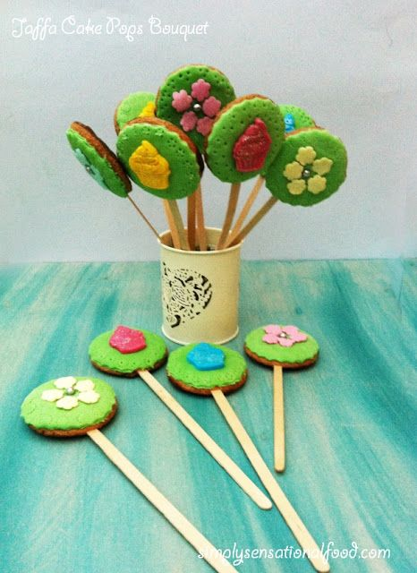 simply.food: Jaffa Cake Pops Bouquet for Mother' s Day #cakepopbouquet