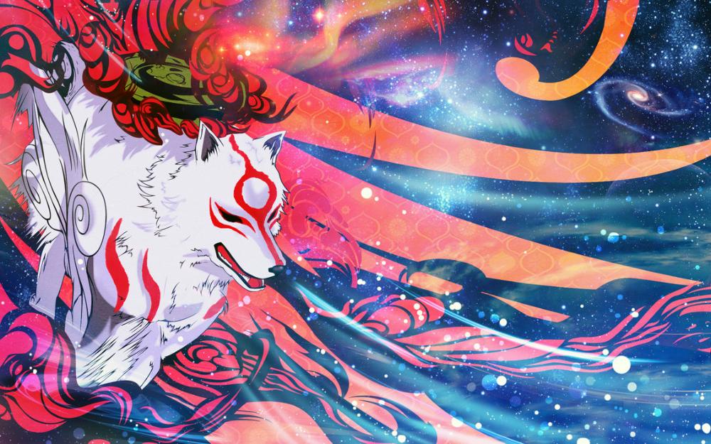 Okami Amaterasu Wallpaper Amaterasu Wallpaper Okami Hd Wallpaper Download Amaterasu Okami Fantasy Art