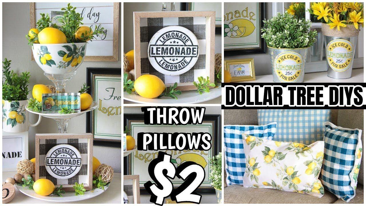 Dollar Tree Lemon Decor Diys Youtube Lemon Decor Diy Dollar Tree Decor Lemon Kitchen Decor
