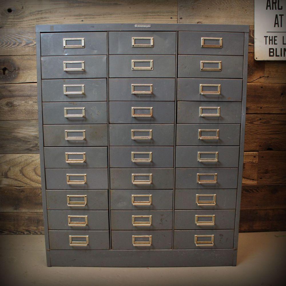 Steel Drawer Parts Storage Cabinet: Details About Vintage Mid-Century Steelmaster Drawer