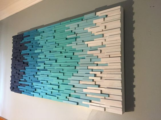 Transition Through Blue- modern wall art - beach a